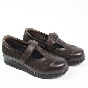 DREW Desiree brown leather mary jane shoe comfort